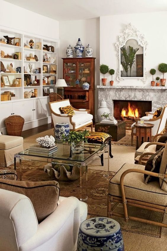 traditional living room 25