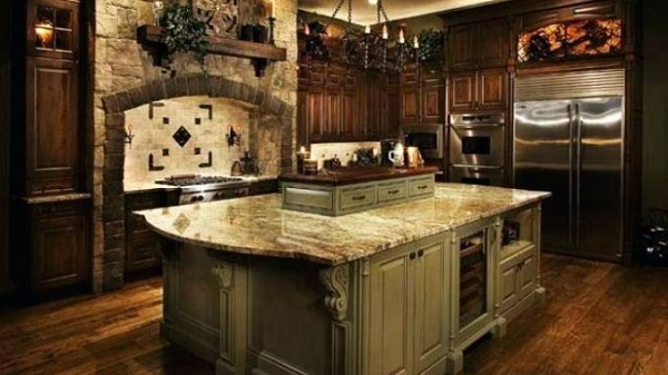 tuscan kitchen feature