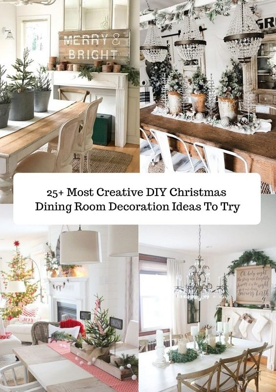 DIY Christmas Dining Room decoration-min