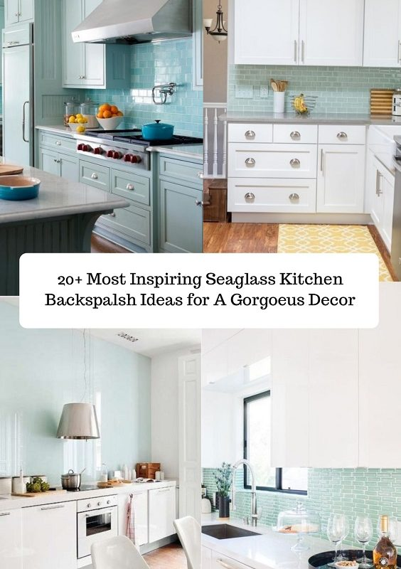 Seaglass Kitchen backsplash