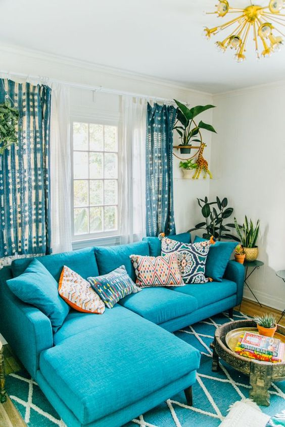 Turquoise Living Room 1