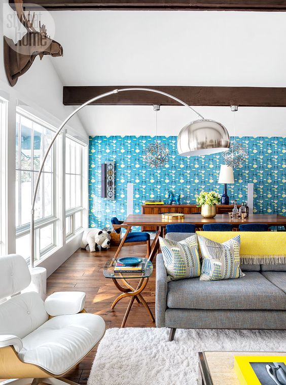 Turquoise Living Room 12