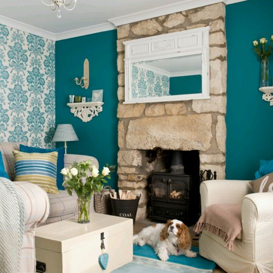 Turquoise Living Room 14