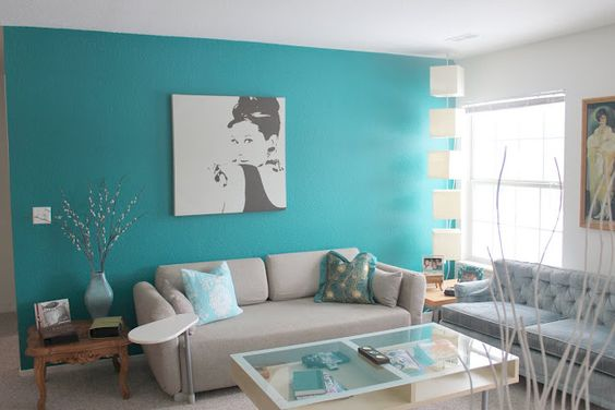 Turquoise Living Room 15