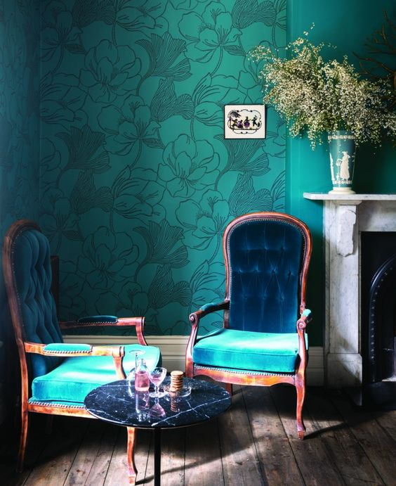 Turquoise Living Room 17