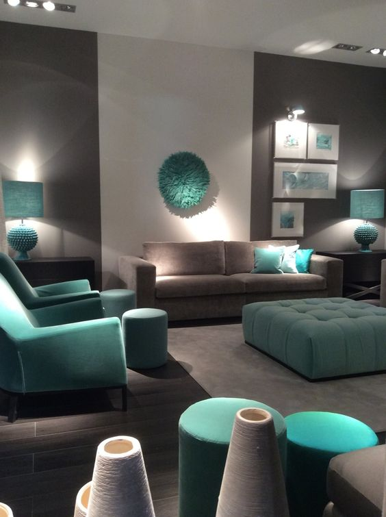 Turquoise Living Room 18