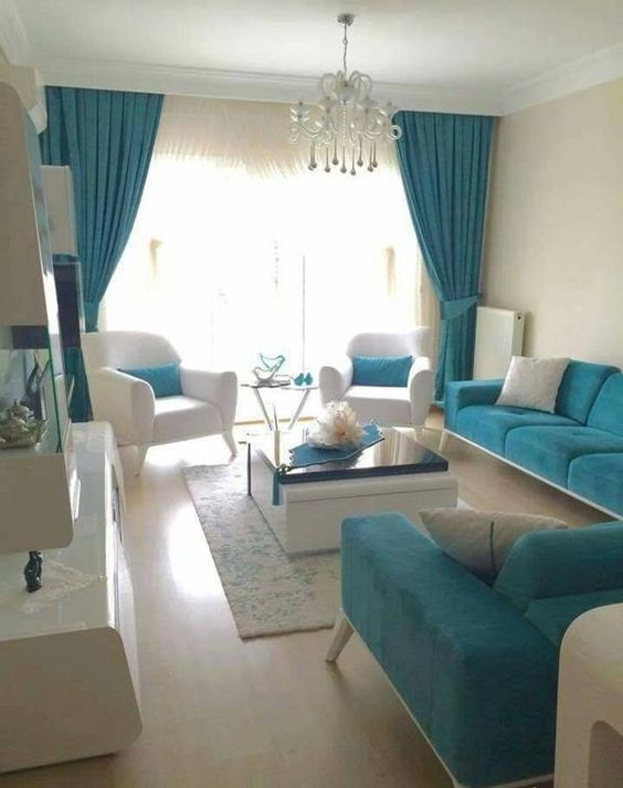 Turquoise Living Room 19
