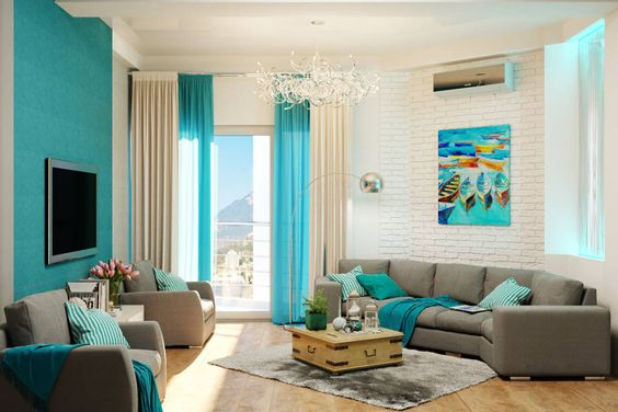 Turquoise Living Room 20
