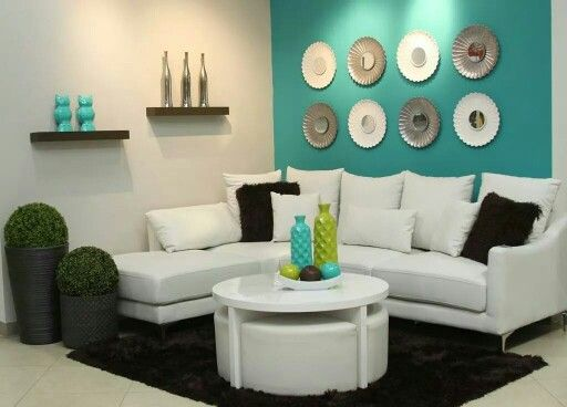 Turquoise Living Room 21