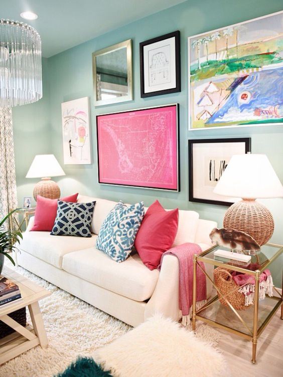 Turquoise Living Room 23