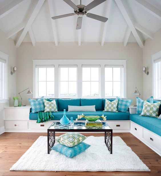 Turquoise Living Room 24