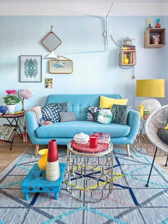 Turquoise Living Room 25