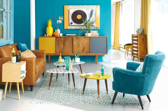 Turquoise Living Room 26