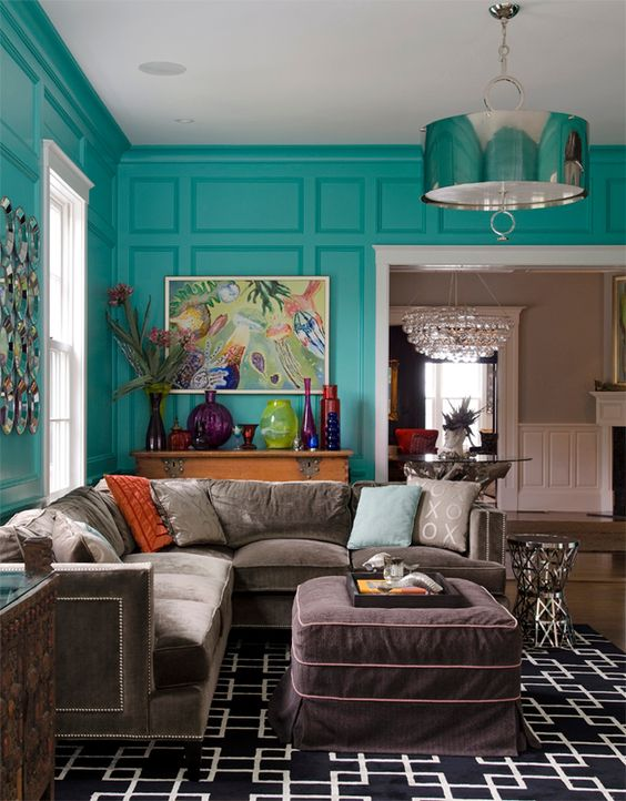 Turquoise Living Room 4