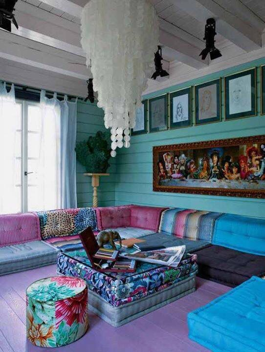 Turquoise Living Room 9