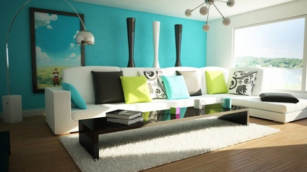 Turquoise Living Room feature