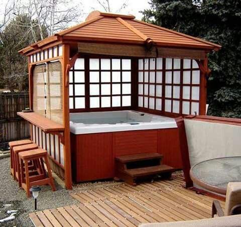 20+ Most Beautiful Deck Hot Tub Ideas For Joyful Backyard