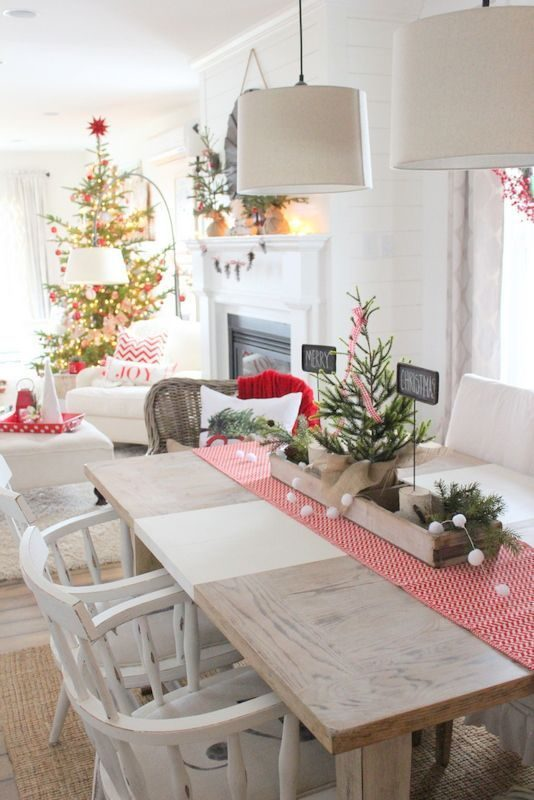 diy christmas dining room 1
