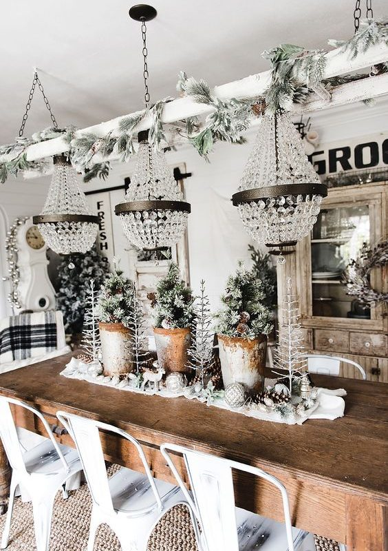 diy christmas dining room 10