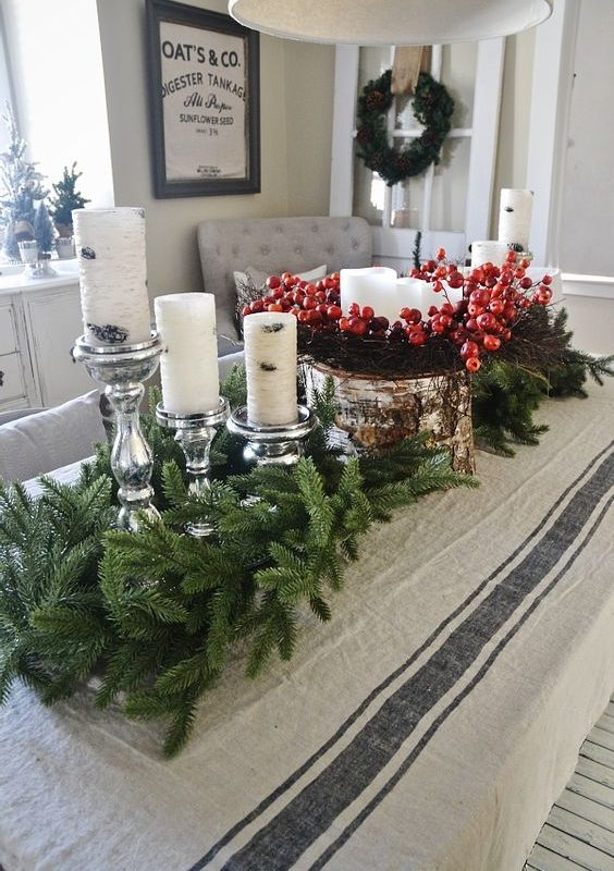 diy christmas dining room 12