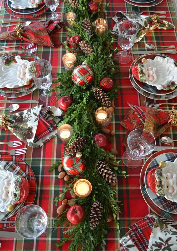 diy christmas dining room 13