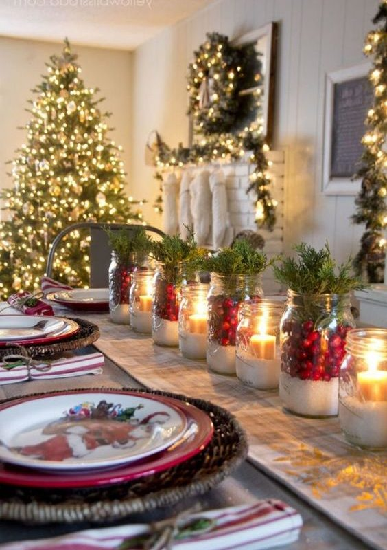 diy christmas dining room 15