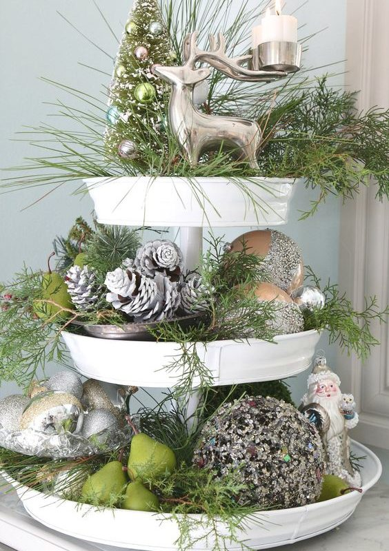 diy christmas dining room 16