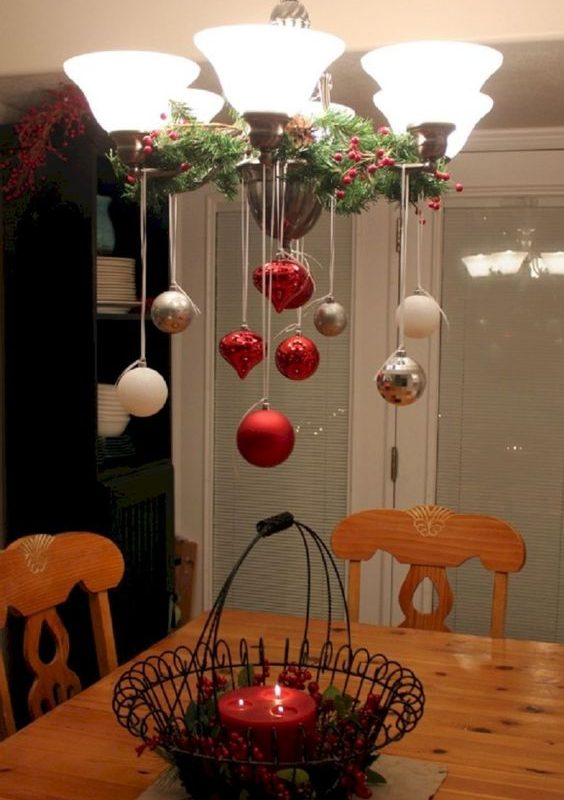 diy christmas dining room 17