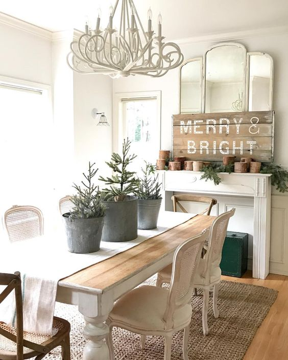 diy christmas dining room 22