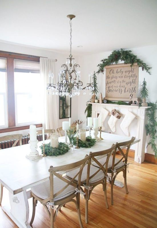 diy christmas dining room 3