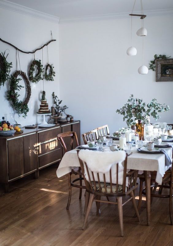diy christmas dining room 4
