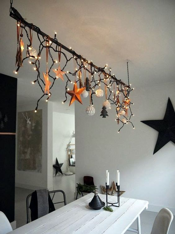 diy christmas dining room 8