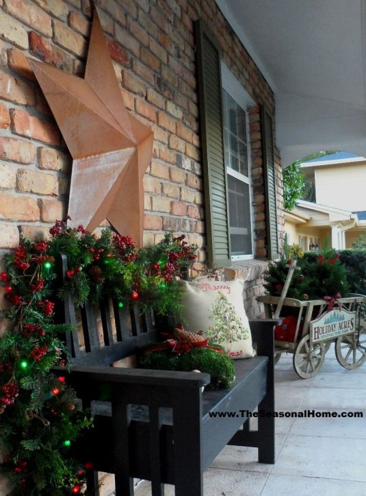 diy christmas patio decoration 12