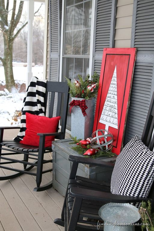 diy christmas patio decoration 13