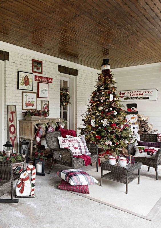 diy christmas patio decoration 14