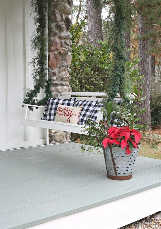diy christmas patio decoration 15