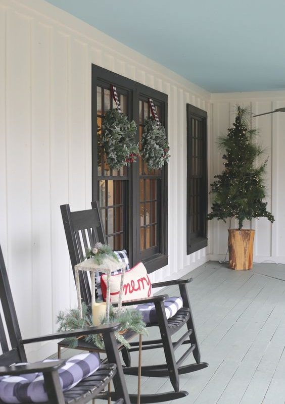 diy christmas patio decoration 16