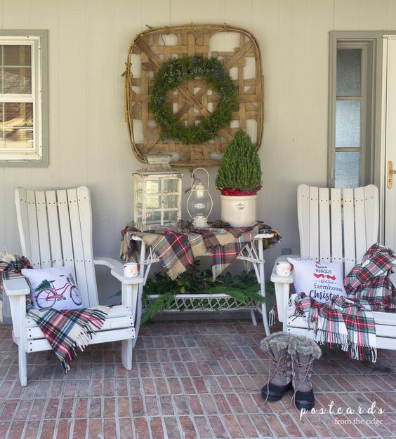 diy christmas patio decoration 17