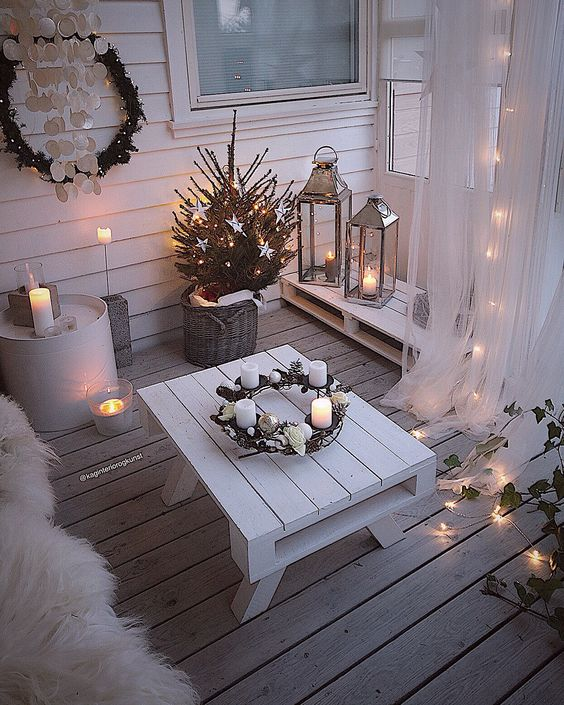 diy christmas patio decoration 18