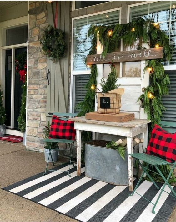 diy christmas patio decoration 2