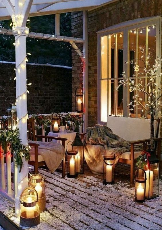 diy christmas patio decoration 20