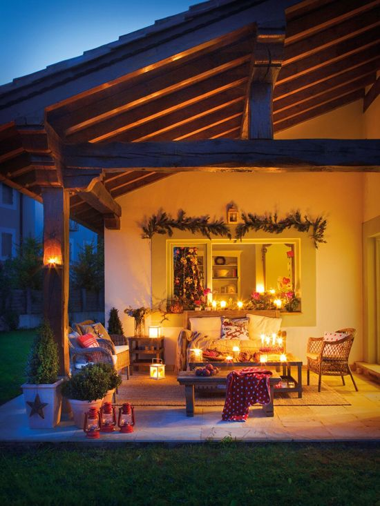 diy christmas patio decoration 21