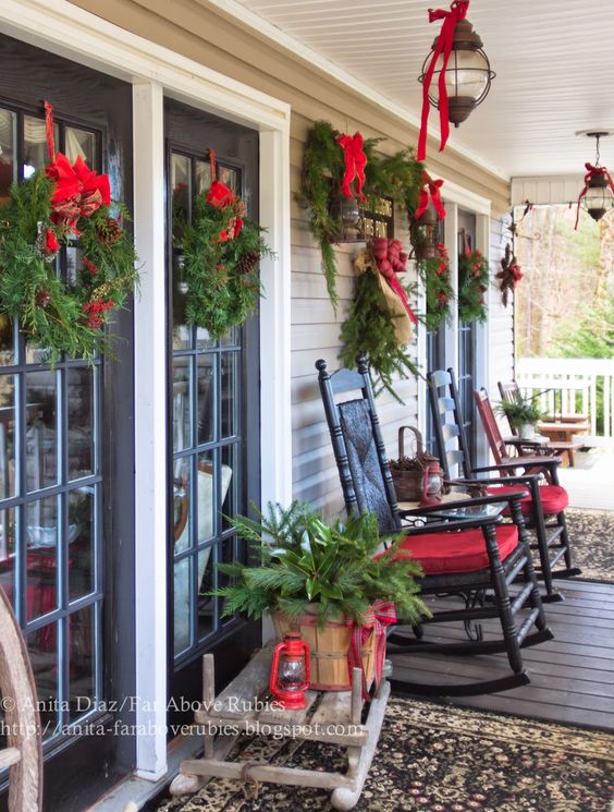 diy christmas patio decoration 3