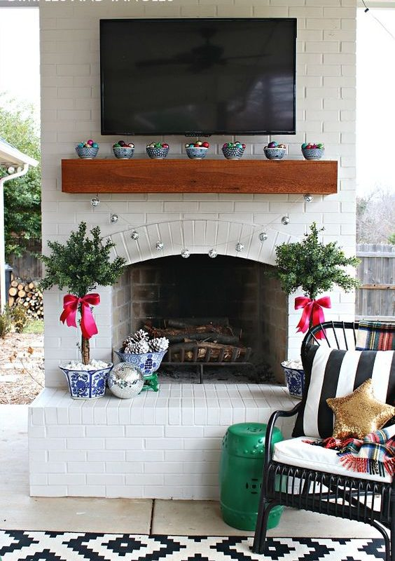diy christmas patio decoration 4