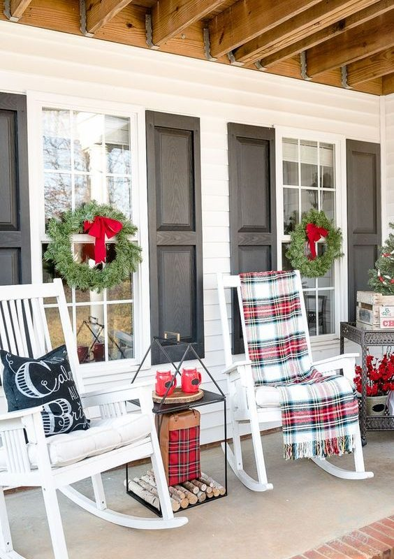 diy christmas patio decoration 6