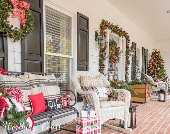 diy christmas patio decoration 7