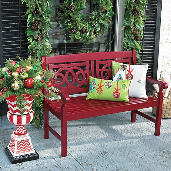 diy christmas patio decoration 8