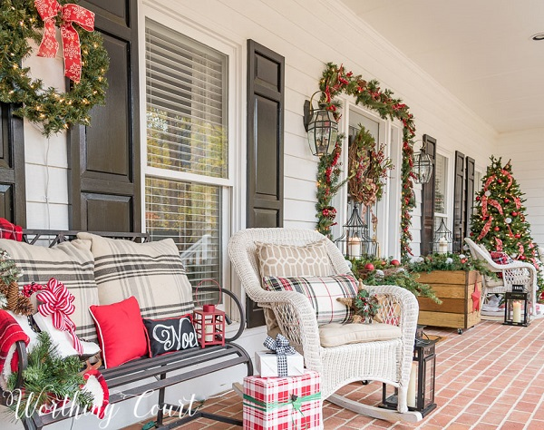 diy christmas patio decoration feature