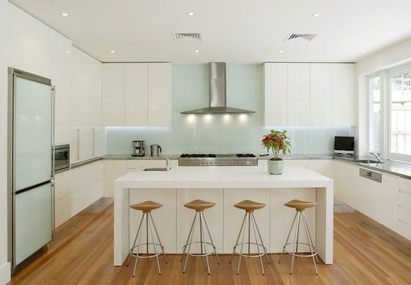 seaglass kitchen backsplash feature