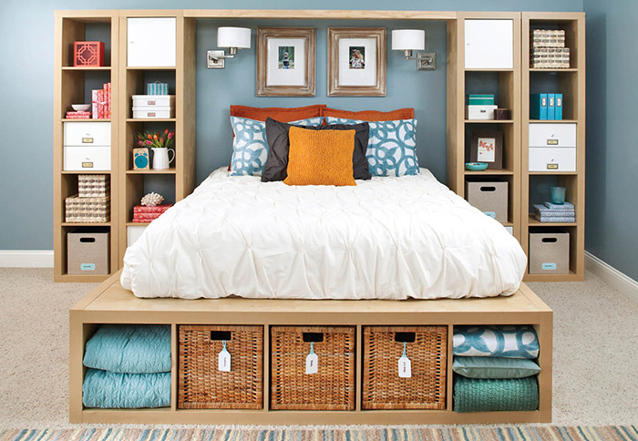 Small Bedroom Storage Ideas: Makes Your Room (Looks)  Bigger
